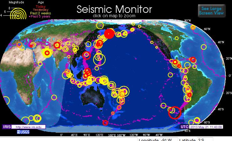Terremotos en el Mundo de la Última Semana