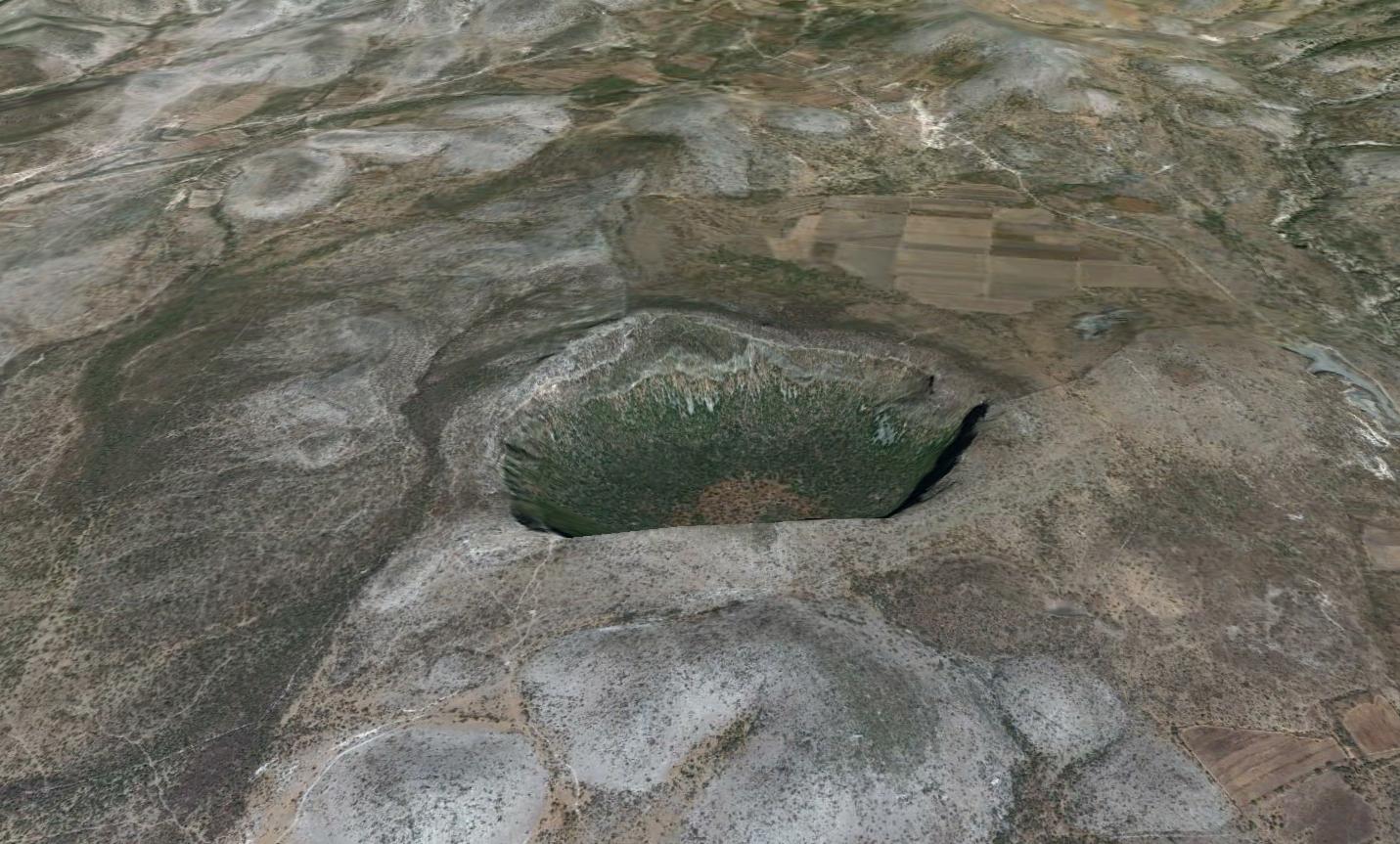 Impacto de cráteres de meteoritos en todo el mundo