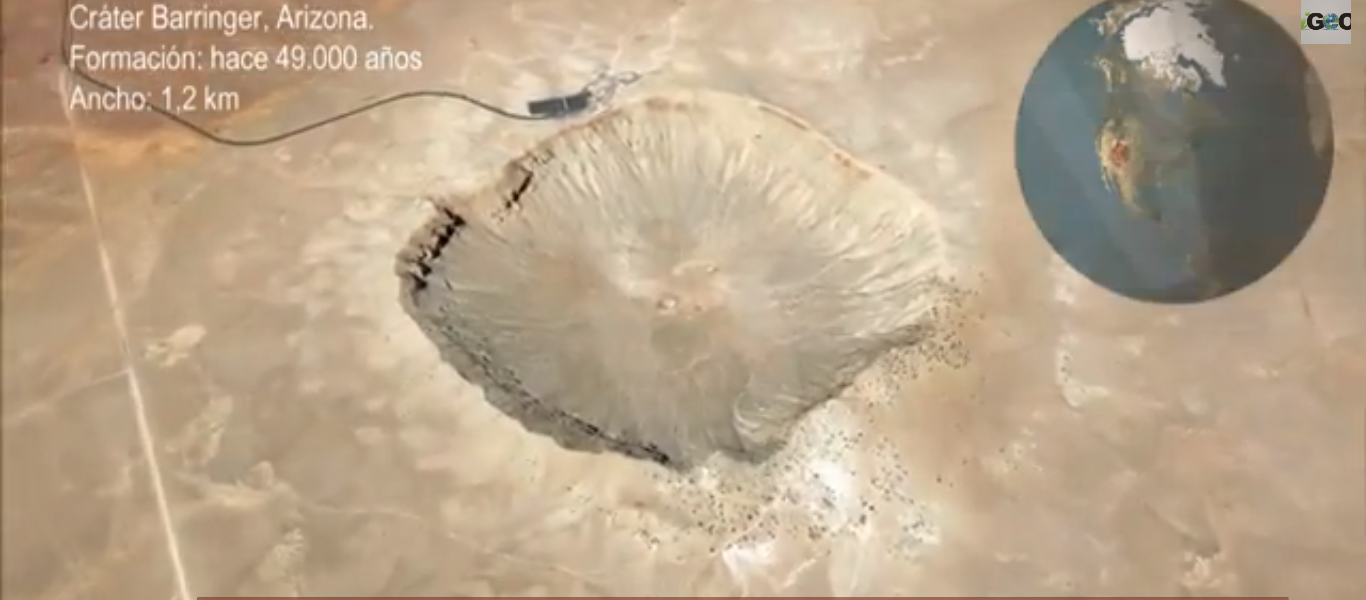 Cráteres de Meteoritos en la Tierra