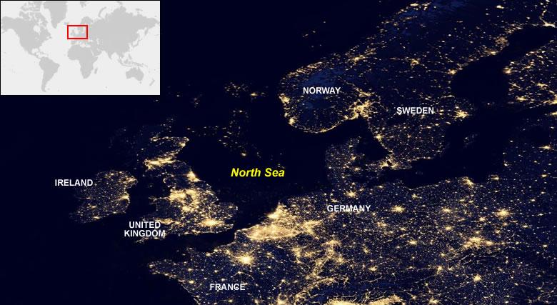 Quema de Gas Natural desde el espacio