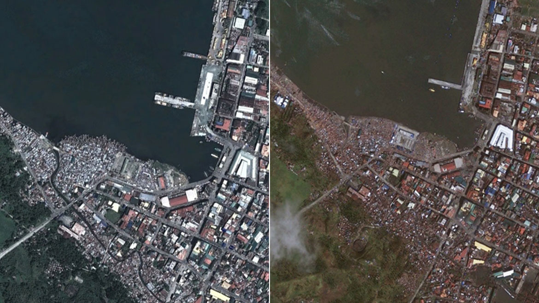 tifón haiyan antes y después