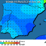 Previsión de vientos en España