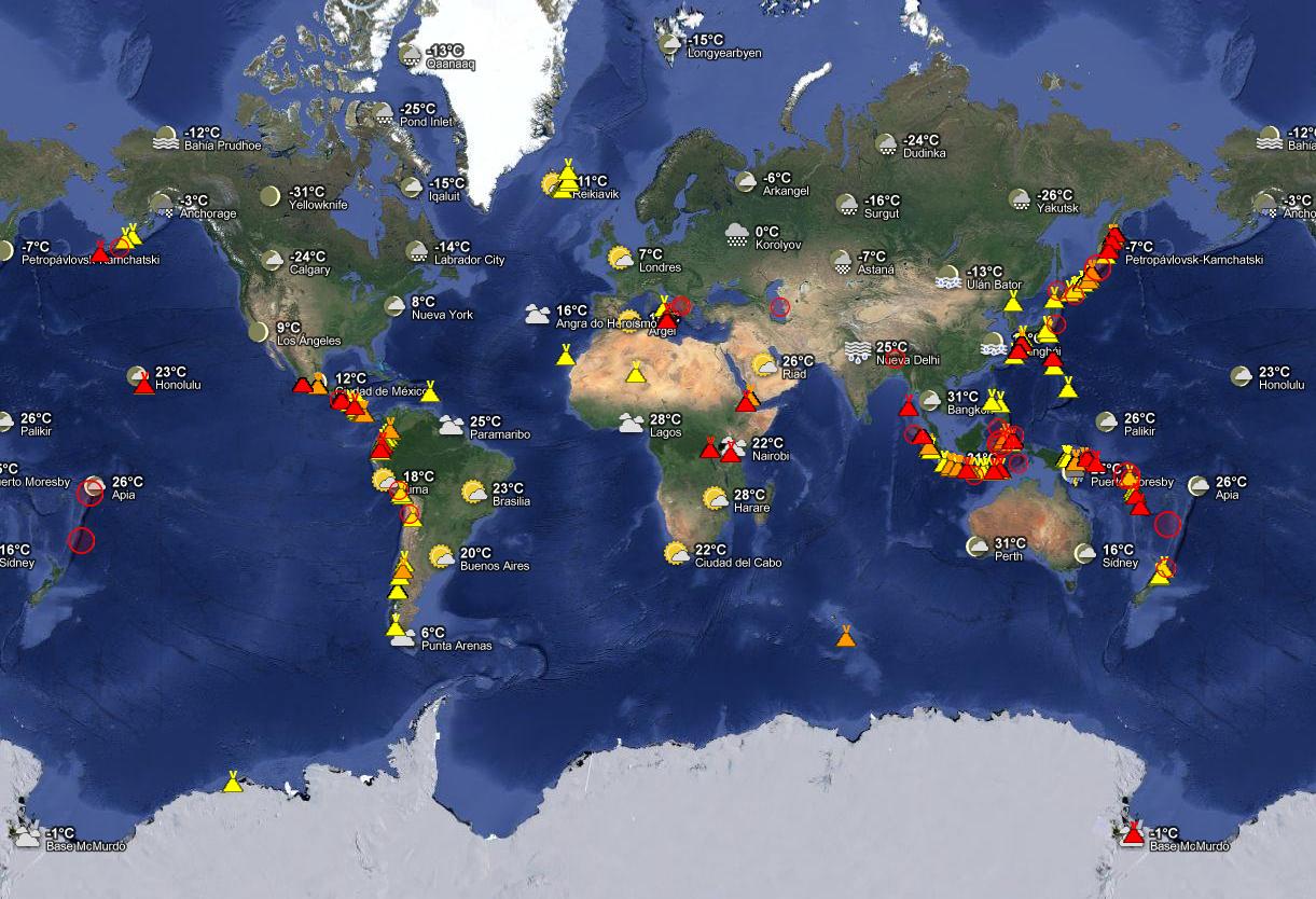 volcanes de todo el mundo: