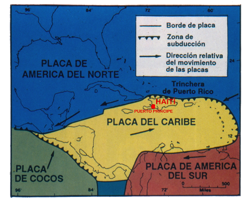placa del caribe