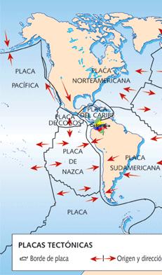 placas tectónicas Colombia