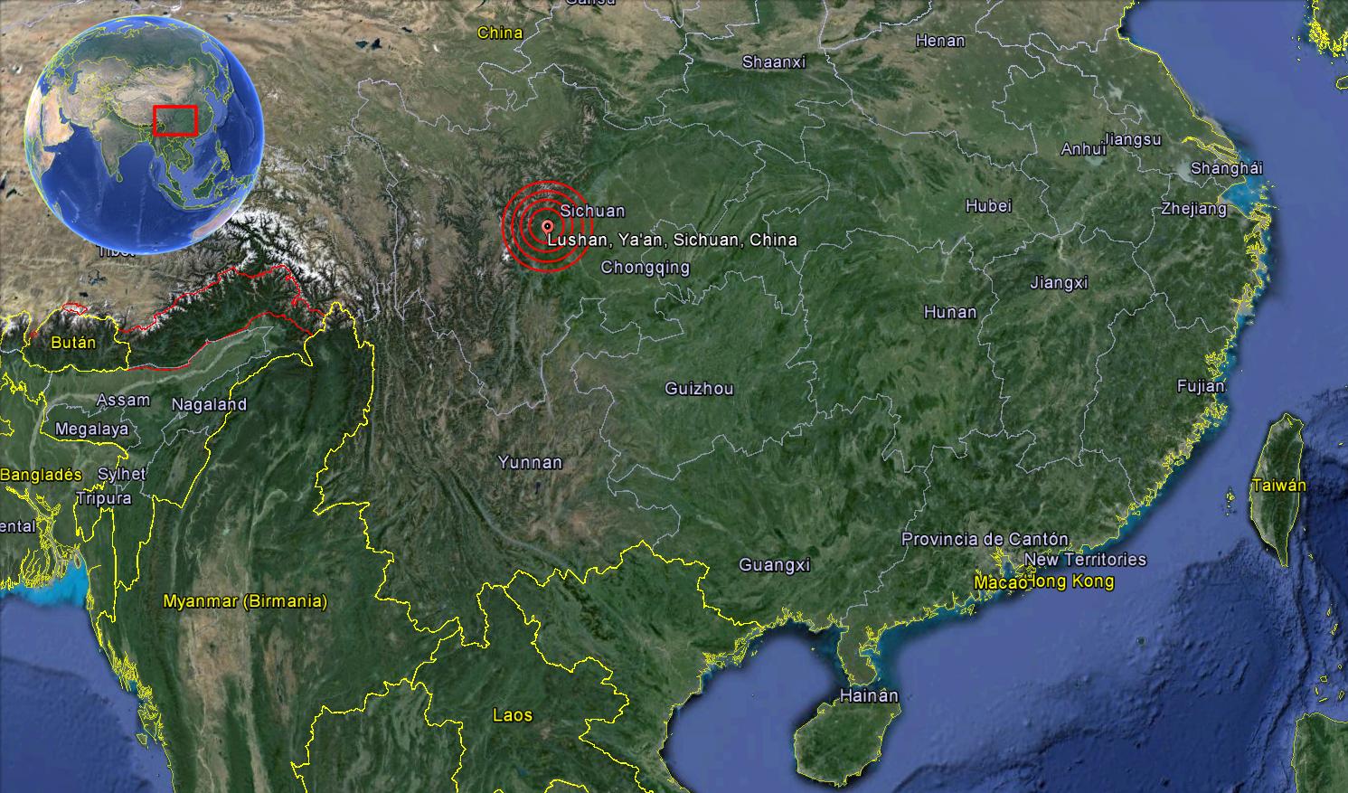 Terremoto Sichuan 20 abril 2013