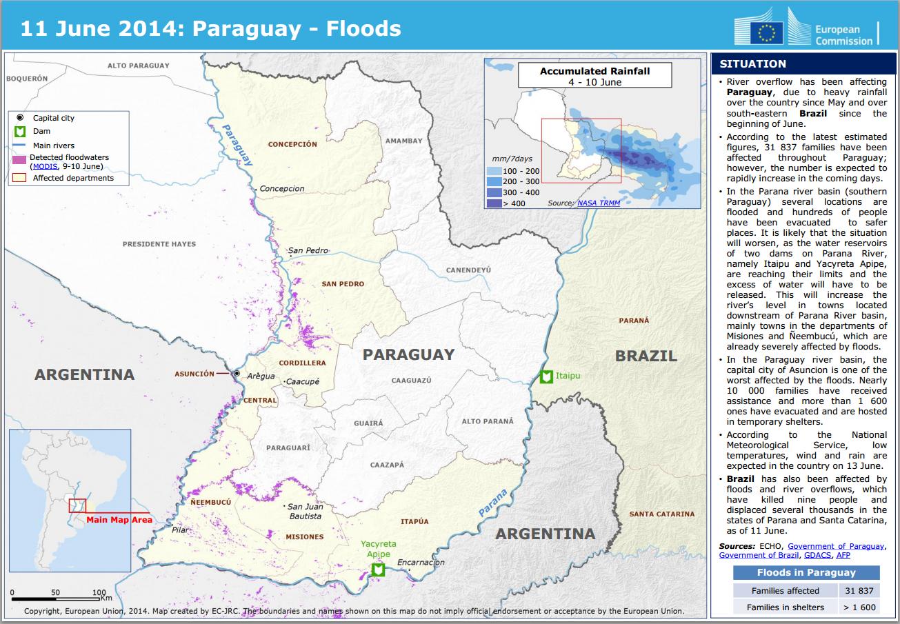 Inundacion Paraguay
